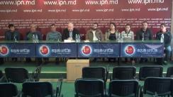 """Conferință de presă susținută de Fiodor Ghelici cu tema """"Cine protejează traficul de persoane în Moldova? 56 de cetățeni ai Republicii Moldova au fost vânduți în robie în Polonia. 17 persoane au revenit și cer ajutorul"""""""