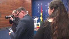 Conferință de presă susținută de Ministrul Afacerilor Externe al României, Teodor Meleșcanu, și Ministrul Afacerilor Externe și al Integrării Regionale a Republicii Ghana, Shirley Ayorkor Botchwey
