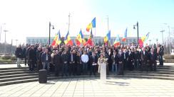 Conferință de presă comună susținută de Partidul Acțiune și Solidaritate și Platforma Demnitate și Adevăr