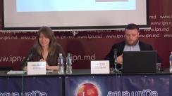 """Conferința de presă organizată de Centrul pentru Jurnalism Independent cu tema """"Elemente de propagandă, manipulare informațională și încălcare a normelor deontologiei jurnalistice în spațiul mediatic autohton"""" (1 ianuarie 2018 – 28 martie 2018)"""
