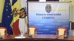 Conferință de presă susținută de Primarul general interimar al municipiului Chișinău, Silvia Radu