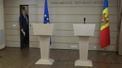 Conferință de presă susținută de Copreședinții Comitetului Parlamentar de Asociere UE - Republica Moldova, Eugen Carpov și Andi Cristea