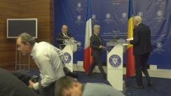 Conferință de presă susținută de Ministrul Afacerilor externe al României, Teodor Meleșcanu, și Ministrul Afacerilor Externe al Franței, Jean-Yves Le Drian