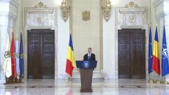 Declarație de presă susținută de Președintele României, Klaus Iohannis, referitor la cererea de revocare a șefei DNA, Laura Codruța Kovesi