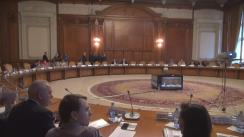 """Dezbaterea cu tema """"Traficul ilicit de mărfuri – cauze – efecte – soluții"""", organizată de Comisiile pentru buget, finanțe și bănci"""