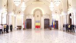 Ceremonia de decorare a unor spitale și a unor cadre medicale, de către Președintele României, Klaus Iohannis