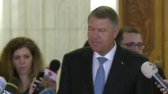Declarație de presă susținută de Președintele României, Klaus Iohannis, după deschiderea primului Summit Parlamentar al Formatului București (B9)