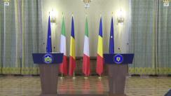 Declarația de presă susținută de Președintele României, Klaus Iohannis, și Președintele Consiliului de Miniștri al Republicii Italiene, Paolo Gentiloni