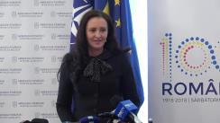 Conferință de presă susținută de Ministrul pentru Românii de Pretutindeni, Natalia Elena Intotero, la finalul vizitei de lucru în Republica Moldova