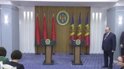 Declarații de presă susținute de Prim-ministrul Republicii Moldova, Pavel Filip, și Președintele Republicii Belarus, Alexandr Lukașenko