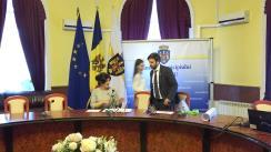 """Semnarea unui acord de colaborare pentru organizarea cursei de ciclism """"Chișinău Criterium"""""""