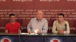 """Conferință de presă susținută de Fiodor Ghelici, președintele Asociației Obștești """"Moldova mea"""" și moldovenii care au avut de suferit, cu tema """"Jertfe noi. Cum ne-au vândut în Israel prin Egipt. Comerțul cu moldoveni pe plan internațional continuă"""""""