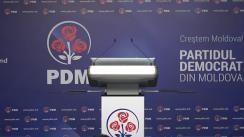Briefingul săptămânal organizat de Partidul Democrat din Moldova
