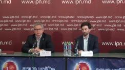 """Conferință de presă organizată de Partidul Uniunea Salvați România (România) cu tema """"Cooperarea USR cu forțele politice cu adevărat pro-europene din Republica Moldova"""""""