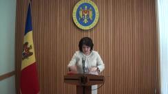 Declarațiile Monicăi Babuc după ședința Guvernului Republicii Moldova din 25 aprilie 2018