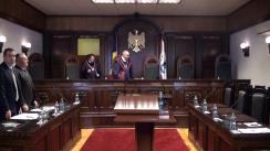 Ședința Curții Constituționale de examinare a sesizării privind achitarea în 72 de ore a amenzilor primite prin poștă