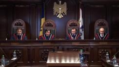 Ședința Curții Constituționale de examinare a sesizării privind procedura obligatorie a medierii judiciare contravine Constituției