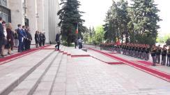Ceremonia de întâmpinare a prim-ministrului Lituaniei, Saulius Skvernelis, de către prim-ministrul Republicii Moldova, Pavel Filip