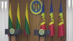Conferință de presă susținută de prim-ministrul Republicii Moldova, Pavel Filip, și prim-ministrul Lituaniei, Saulius Skvernelis