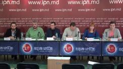 """Conferința de presă cu tema """"Adresarea societății civile către candidații la funcția de primar al mun. Chișinău"""""""