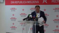 Conferință de presă susținută de către candidatul PSRM la funcția de primar general al Chișinăului, Ion Ceban