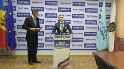 Conferință de presă susținută de candidatul Partidului Liberal la funcția de primar general al municipiului Chișinău, Valeriu Munteanu, și Dorin Chirtoacă