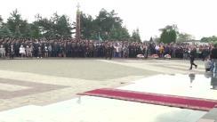Ceremonia organizată cu ocazia Zilei Victoriei și comemorării eroilor căzuți pentru Independența Patriei