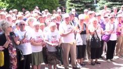 Protest de susținere a candidatului la funcția de primar general al municipiului Chișinău din partea Partidului ȘOR, Reghina Apostolova