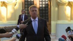 """Declarația de presă susținută de Președintele României, Klaus Iohannis, la finalul dezbaterii """"Blaj 1848-2018: conștiință națională și destin european"""""""