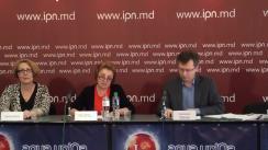 """Conferința de presă organizată de Transparency International - Moldova cu tema """"Transparency International - Moldova atenționează partenerii de dezvoltare și organizațiile de apărare a drepturilor omului despre încercările de a discredita expertul Veaceslav Negruțа"""""""