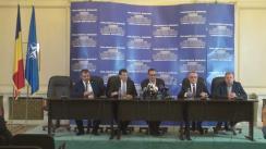 Conferință de presă susținută de deputații neafiliați Victor Viorel Ponta, Daniel Constantin și Sorin Mihai Cîmpeanu