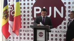 Conferință de presă susținută de candidatul Partidului Unității Naționale la funcția de primar general al municipiului Chișinău, Constantin Codreanu, și persoana sa de încredere, Vlad Țurcanu