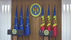 Conferința de presă susținută de Comisarul European pentru politica regională, Corina Crețu și Prim-ministrul Republicii Moldova, Pavel Filip