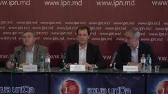 """Conferință de presă organizată de Partidul Societății Progresiste cu tema """"Motivele excluderii din cursa electorală a candidatului PSP Andrei Munteanu"""""""