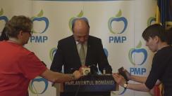Declarație de presă susținută de Președintele Partidului Mișcarea Populară, senatorul Traian Băsescu