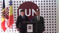 """Conferință de presă organizată de Partidul Unității Naționale cu tema """"Socialiștii forțează excluderea din cursa electorală candidatului Partidului Unității Naționale, Constantin Codreanu"""""""