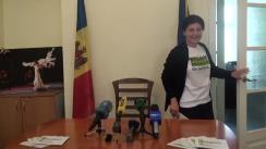 Conferință de presă susținută de candidatul la funcția de primar general al municipiului Chișinău, Silvia Radu