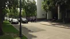Protestul deputaților Partidului Liberal în fața președenției de la Chișinău