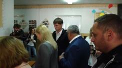 Alegeri Bălți 2018: Exprimarea votului de către candidatul la funcția de primar general al mun. Bălți din partea Partidului Nostru, Nicolai Grigorișin