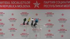 Alegeri Chișinău 2018: Briefing de presă susținut de candidatul PSRM la funcția de primar general al Chișinăului, Ion Ceban, după anunțarea parțială a rezultatelor alegerilor