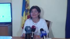Alegeri Chișinău 2018: Briefing de presă susținut de candidatul la funcția de primar general al Chișinăului, Silvia Radu, după anunțarea parțială a rezultatelor alegerilor