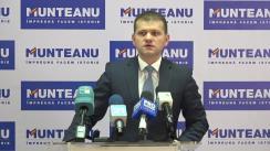 Conferință de presă susținută de fostul candidat la funcția de primar general al municipiului Chișinău din partea Partidului Liberal, Valeriu Munteanu