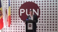 """Conferință de presă organizată de Partidul Unității Naționale cu tema """"Rezultatele alegerilor locale noi și poziția PUN vizavi de turul II al alegerilor locale noi"""""""