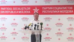 Conferința de presă susținută de candidatul PSRM la funcția de primar general al Chișinăului, Ion Ceban