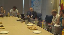 Conferință de presă susținută de președintele directoratului Hidroelectrica, Bogdan Badea