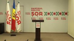 """Conferința de presă cu tema """"Totalurile participării Partidului ȘOR la alegerile locale"""""""