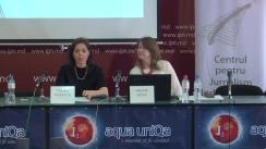 """Conferință de presă cu tema """"Lansarea raportului de monitorizare a mass-mediei în campania electorală pentru alegeri locale noi din 20 mai 2018"""""""