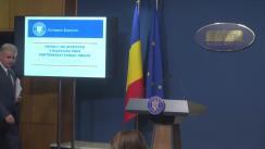 Declarații de presă susținute de vicepremierul României, Viorel Ștefan