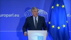 Conferință de presă susținută de Președintele Parlamentului European, Antonio Tajani, după întrevederea cu CEO Facebook, Mark Zuckerberg