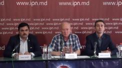 """Conferința de presă cu tema """"Rezultatele alegerilor locale noi. Modificări în organele de conducere ale PVE. Impactul deciziilor recente ale Consiliului Partidului Verde European asupra Republicii Moldova"""""""